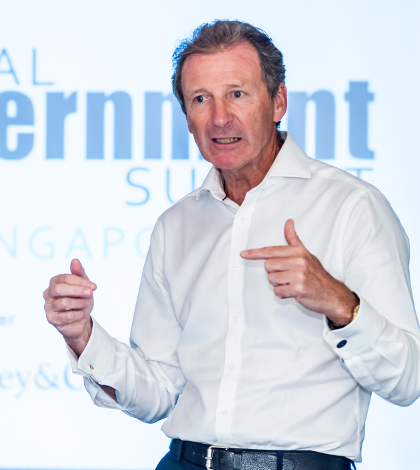 Lord O'Donnell presenting to Heads of Civil Service at the Global Government Summit, Singapore in November