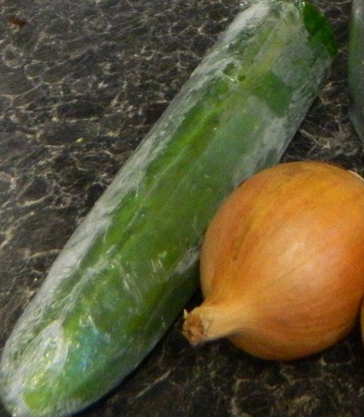 Cucumber  Onion
