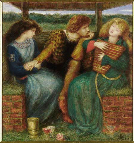 The Merciless Lady - Painting by Dante Gabriel Rossetti