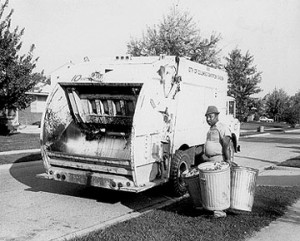 Example 1960s-rubbish collection lorry
