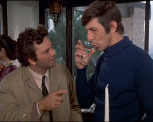 Leoanard Nimoy& Peter Falk in Columbo