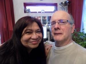Peter & I, celebrating,