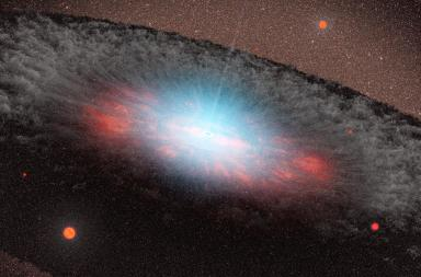 A Nasa image of a supermassive black hole.