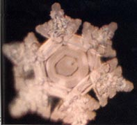 A structured water molecule from Antarctic Ice. From 'The Message From Water' by Masaru Emoto.