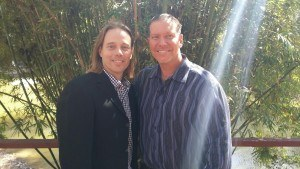 Dr. Edward Group with medical researcher Ty Bollinger at The Truth About Cancer Symposium.