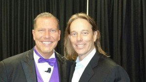 Dr. Edward Group with book author and medical researcher Ty Bollinger at The Truth About Cancer Symposium.
