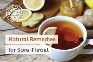 A cup of tea with honey. A tea with honey is one of the many natural remedies for a sore throat.