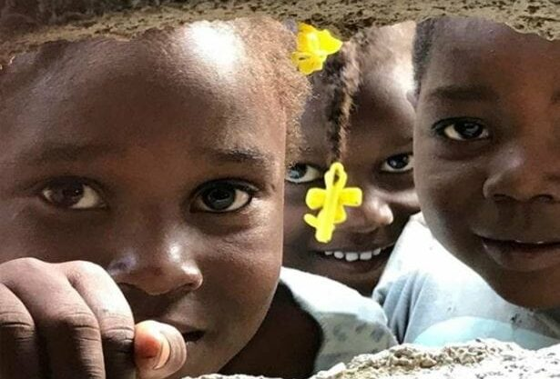 Three Haitian Girls. Global Health Teams - Haiti Medical Volunteer