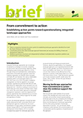 From commitment to action: Establishing action points toward operationalizing integrated landscape approaches