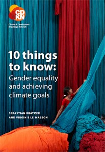 10 things to know: Gender equality and achieving climate goals