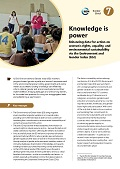 Knowledge is power: Enhancing data for action on women's rights, equality, and environmental sustainability via the Environment and Gender Index (EGI)