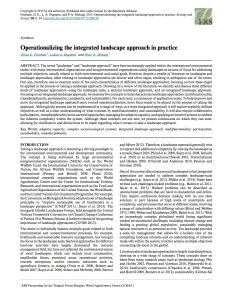 Operationalizing the integrated landscape approach in practice