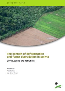 The context of deforestation and forest degradation in Bolivia: Drivers, agents and institutions