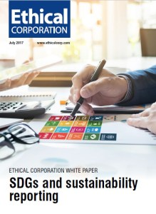 Ethical Corporation White Paper: SDGs and sustainability reporting