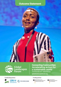Outcome Statement of the 2017 Global Landscapes Forum: Connecting communities