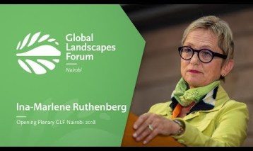 Ina-Marlene Ruthenberg at the Opening Plenary, GLF Nairobi 2018