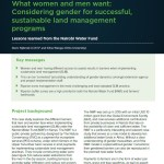 What women and men want: Considering gender for successful, sustainable land management programs: Lessons learned from the Nairobi Water Fund