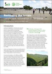 Reshaping the terrain: Landscape restoration in Tanzania