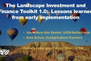 The Landscape Investment and Finance Toolkit 1.0: Lessons learned from early implementation