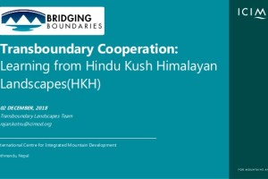 Transboundary Cooperation: Learning from Hindu Kush Himalayan Landscapes(HKH)