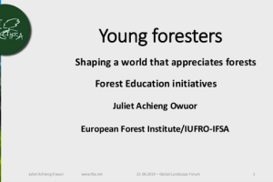 Young foresters: shaping a world that appreciates forests