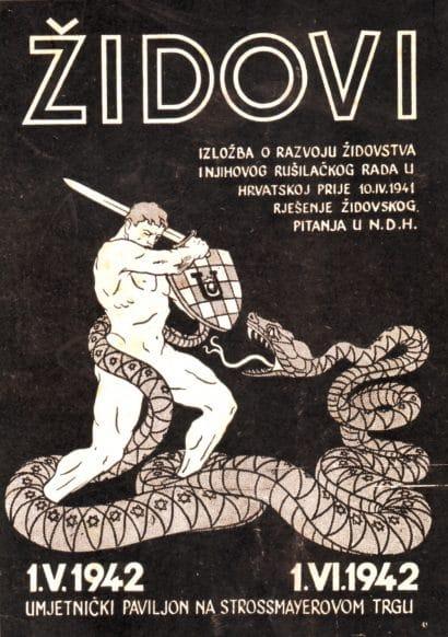 """11. Jasno, povezanost NDH i Hitlerove Njemačke nije ostala na osobnoj razini. Pavelić se potrudio pridružiti Hitleru u provođenju """"rješenja židovskog problema"""", čak i kroz organizaciju izložbi o """"rušilačkom radu Židova u Hrvatskoj"""":"""
