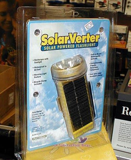 Solar-powered flashlight