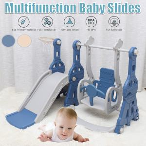 3 IN 1 Kids Slides And Swing Child Home