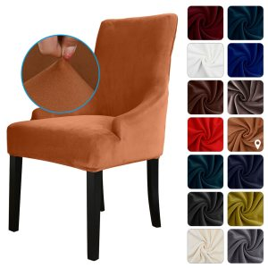 Chair Cover, Velvet Chair Slipcovers Removable Washable Soft