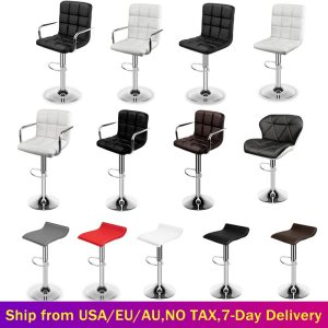 Set of 2 Modern Bar Chairs Dining Room