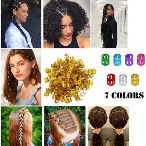 100pcs Durable Hair Braid Cuff Hair Extension Ring Wig Decorative Tool Adjustable Clips For Braiders Hair Accessories