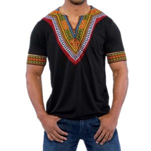 T-shirt slim national style short pull retro African clothing top