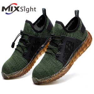 ZK30 Indestructible Shoes Men and Women Cap Steel Toe Air Work Safety Shoes Puncture-Proof Work Sneakers Breathable Shoes