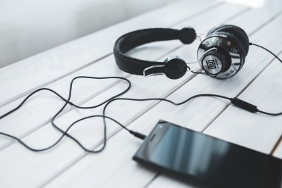 Black vintage headphones