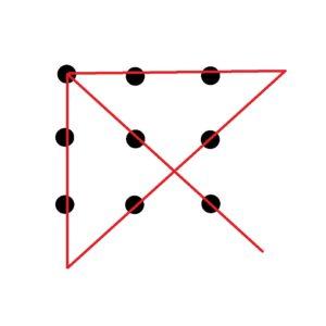 9 dots 4 lines