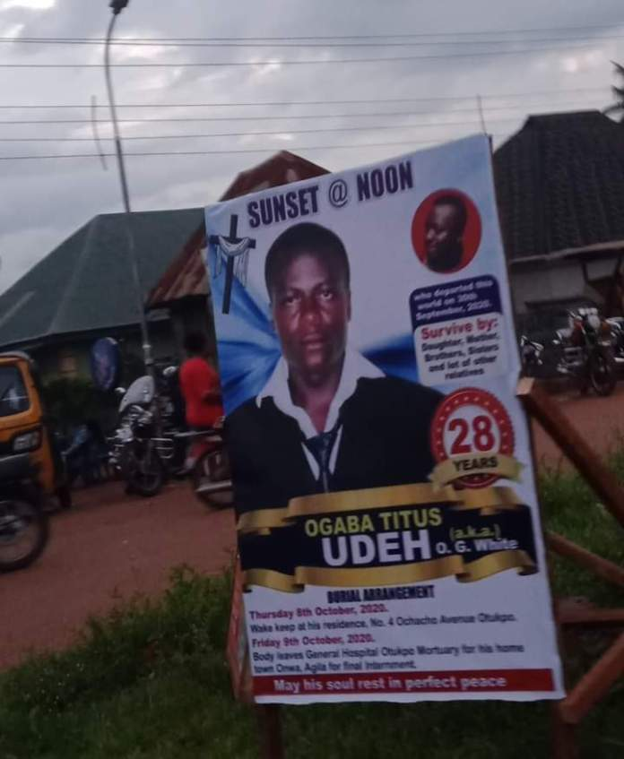 A 28-Year-Old Man, Ogaba Titus Udeh Stabbed To Death During Argument With Keke Rider In Otukpo Benue State