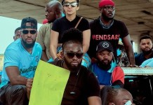 A Russian Woman Joins Lagos EndSARS Protest In Lagos