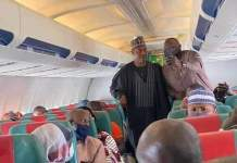 Borno State Governor Babagana Zulum On Abuja-Bound Commercial Flight