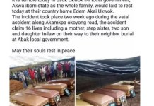 Burial Of 5 Family Members Who Died In Road Accident In Akwa Ibom