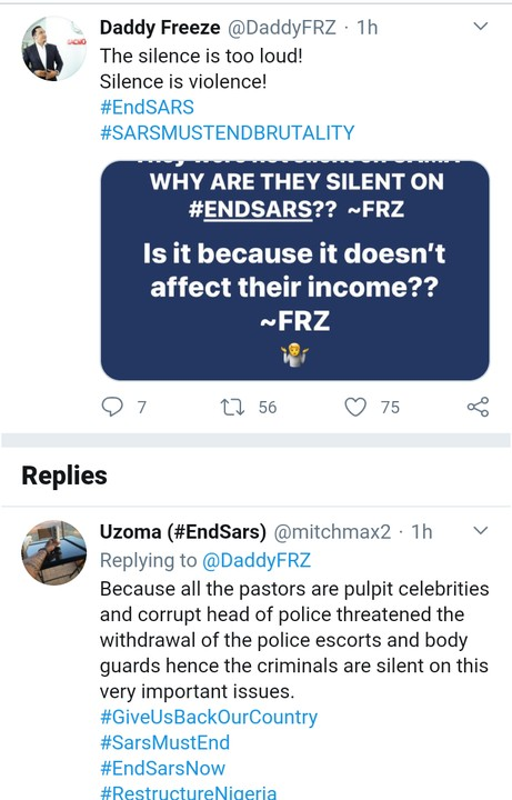 Daddy Freeze Slams Churches And General Overseers Over Silence On EndSARS Protest Rocking Nigeria