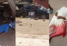 Disturbing photos of two persons allegedly killed by soldiers in Osun