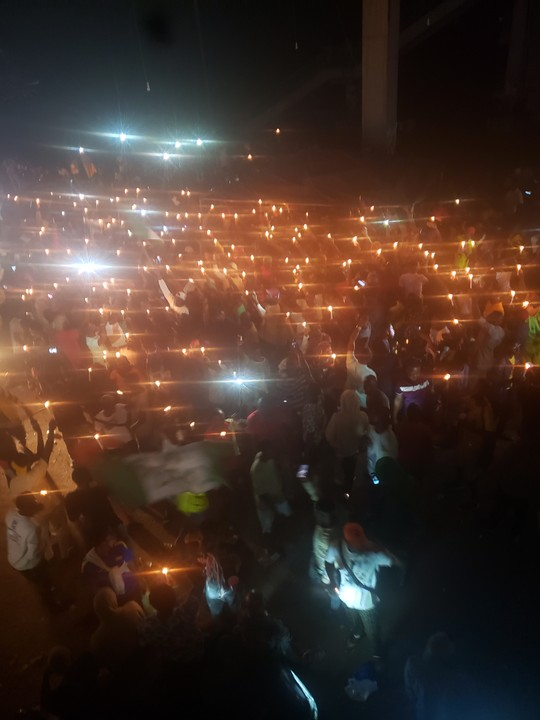 EndSARS Protesters hold candle light vigil for people killed in Benin city by police violence