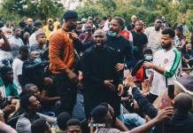 EndSARS Video Of Davido At The Nigeria Police Headquarters In Abuja