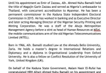 Kaduna State Governor El-Rufai Appoints Ahmed Nuhu Bamalli As Emir Of Zazzau
