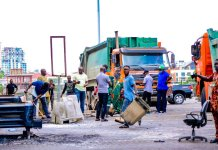 Lagos Waste Management Authority Starts Cleaning Up Lagos After Days Of Unrest