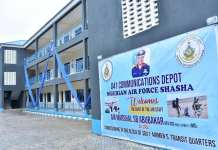 Nigerian Air Force Commissions New Residential Accommodation For Personnel At 041 Communications Depot Shasha In Lagos