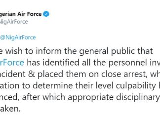Nigerian Air Force arrests personnel who flogged curfew violators in Ilesha, Osun State