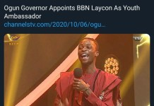 Ogun State Governor Dapo Abiodun Appoints bbnaija Laycon As Youth Ambassador And Gives Him A Bungalow With N5m