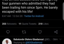 PDP Canditate Gbadamosi Alleges That APC Candidate Tokunbo Abiru Is Trying To Kill Him