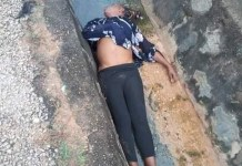 Photos Of A Woman's Dead Body Dumped In A Drainage In Benue State